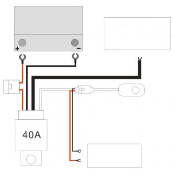 Комплект подключения 12V, салонный пульт