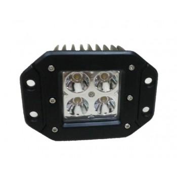 LED фара встраиваемая, рабочий свет, 12W