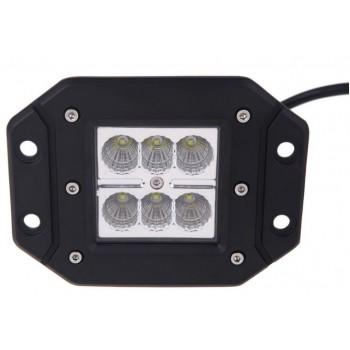 LED фара встраиваемая, рабочий свет, 18W
